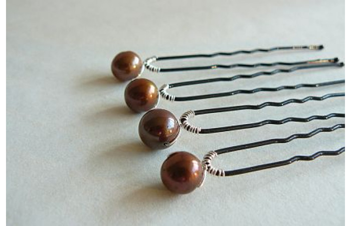 Hairpins - Iona Bronze x 1