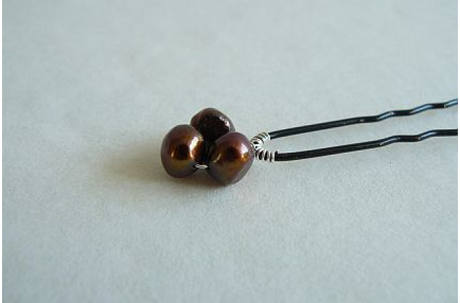 Hairpins - Iris Bronze x 1