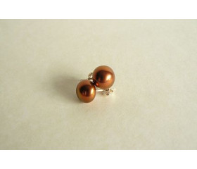 Light Bronze Pearl Stud Earring - Medium