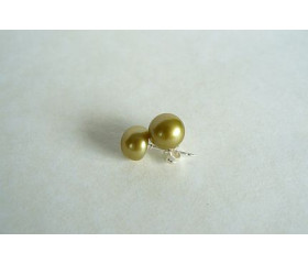 Light Olive Green Earring Stud - Small