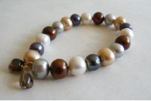 Mixed Colour Large Pearl Bracelet