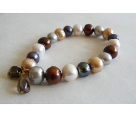 Mixed Colour Large Pearl Bracelet