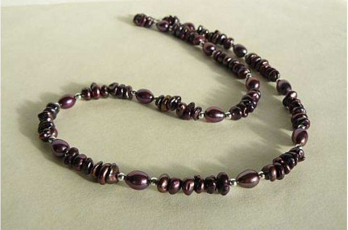 Mulberry Round Keshi Pearl Necklace