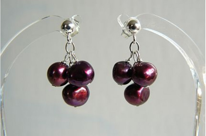 Mulberry Small Cluster Drops on Silver Studs