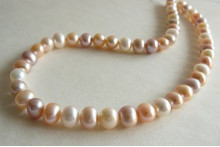 Natural Colour Large Round Pearl Necklace