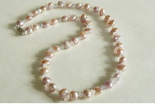 Pink Pearl, Rose Quartz & Crystal Glass Necklace