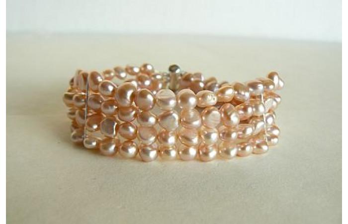 Pink Pearl Cuff Bracelet