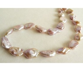 Pink Keshi Baroque Pearl Necklace