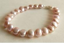 Pink Irregular Pearl Bracelet