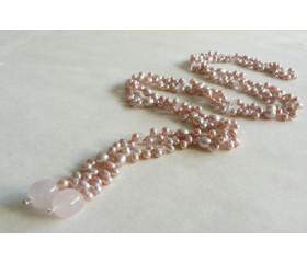 Pink Pearl Lariat