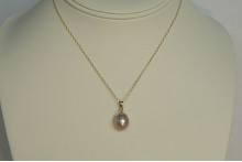 Pink Pearl Pendant Necklace
