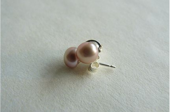 Pink Pearl Stud Earrings - X-Small