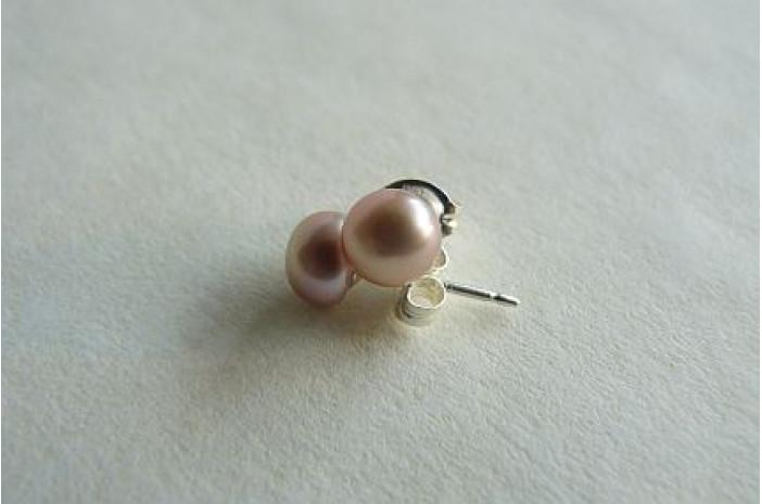 Pink Pearl Stud Earrings - X-Small