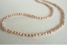 Pink Small Pearl Necklace