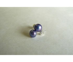 Purple Pearl Stud Earring - Small