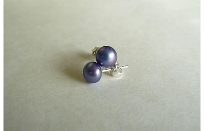 Purple Pearl Stud Earring - Small