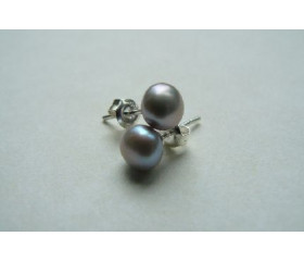 Silver Pearl Stud Earring - Small