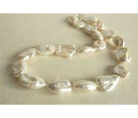 White Keshi Baroque Pearl Necklace