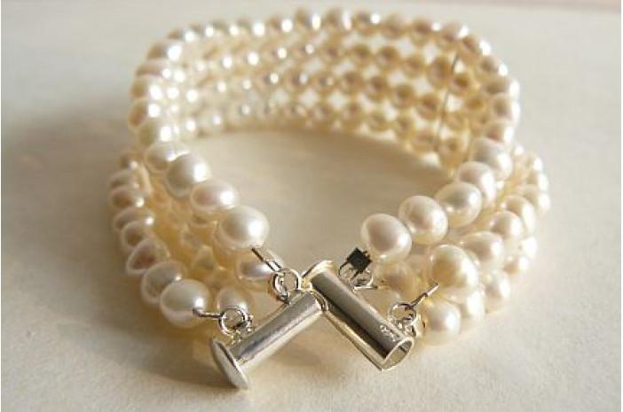 White Pearl Cuff Bracelet