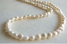 White Baroque Nugget Pearl Necklace