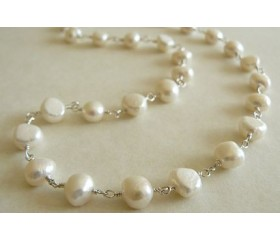 White Pearl Silver Linked