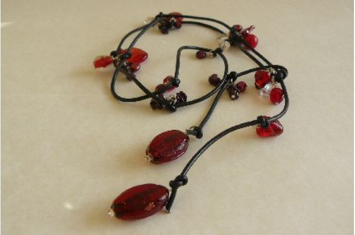 Red Lariat on Leather