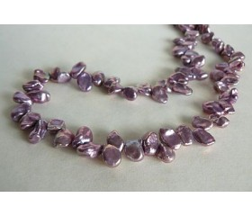 Violet Keshi Pearl Necklace