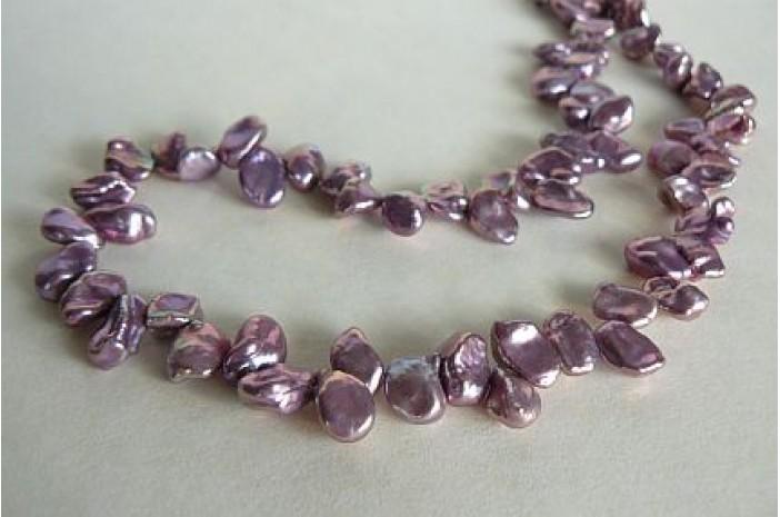 Violet Keshi Pearl Necklace