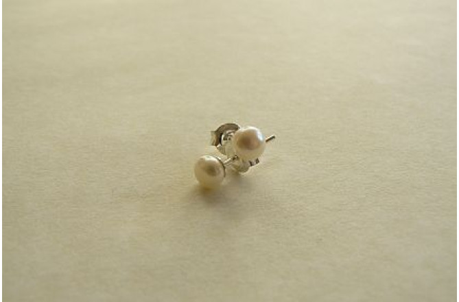 White Pearl Stud Earring - X-Small